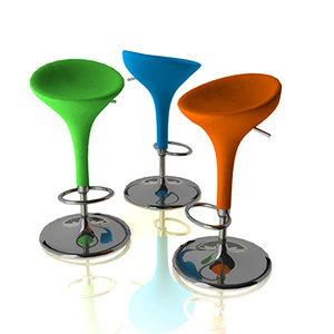 3ds bombo height adjustable bar stool