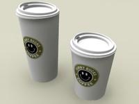 3d disposable cups model