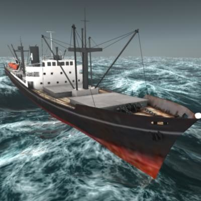 3d treylon ship class cargo model