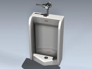 urinal men 3d model