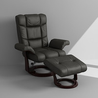 3ds max armchair footrest
