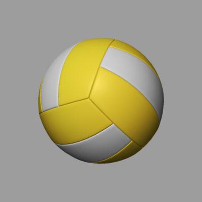 volleyball ball obj