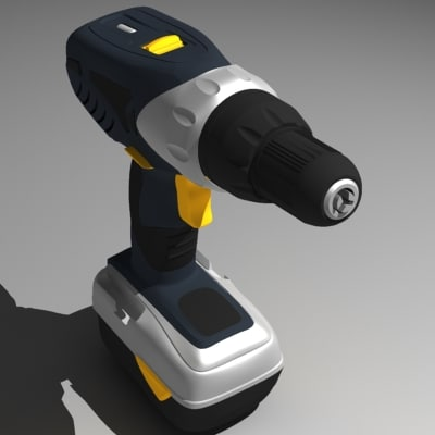3ds max screwdriver drill