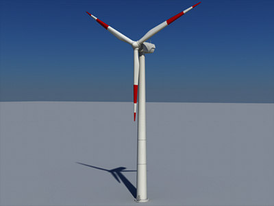 land wind turbine 3d model