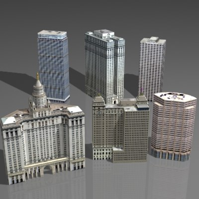 3d skyscraper house model