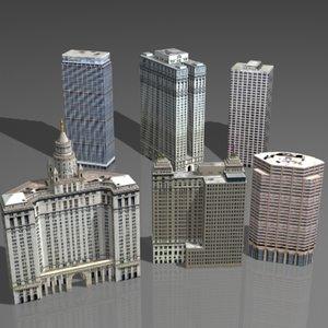 3d skyscraper house model