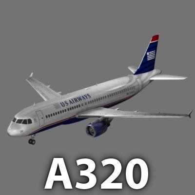 aircraft airbus airways a320 3d model