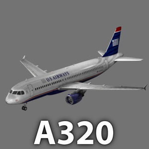 aircraft airbus airways a320 3d model