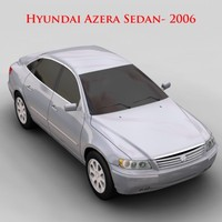hyundai azera sedan - 3d model