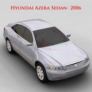 hyundai azera sedan - 3d model