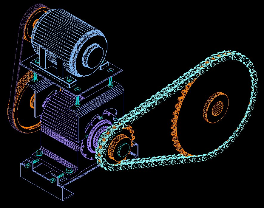 drive sprockets conveyors 3d 3ds