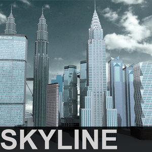 skyscrapers new chrysler 3d max