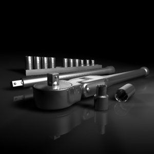 flexible ratchet sockets 3d model
