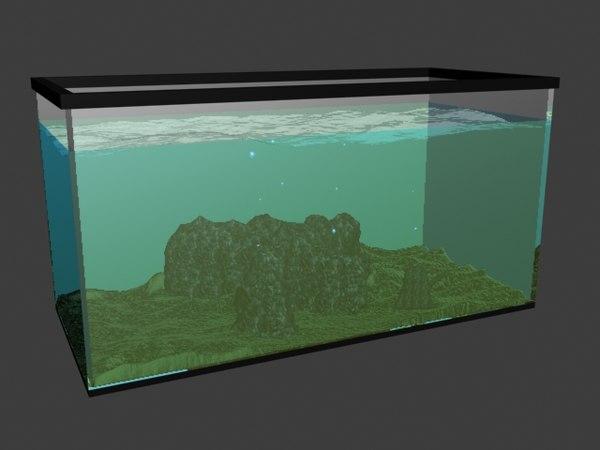 3ds max fish tank sand rocks