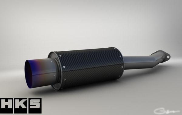 3ds hks carbon exhaust