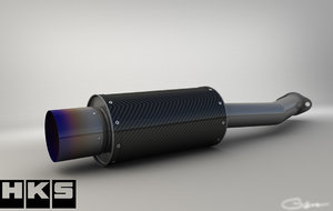 3ds hks carbon exhaust