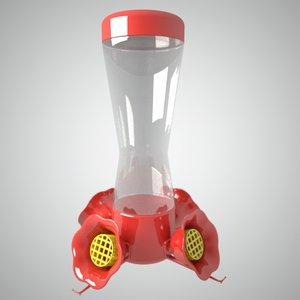 hummingbird feeder 3d model