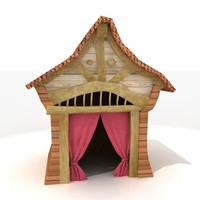 Korean or Japanese Hut - High Quality Architectural 3d model
