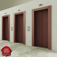 3d model lift doors