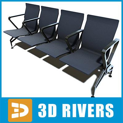 airport seats 02 3d model