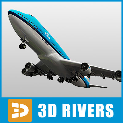 3dsmax b-747 aircraft
