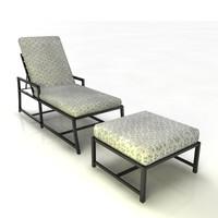 3d lounger patio furniture model