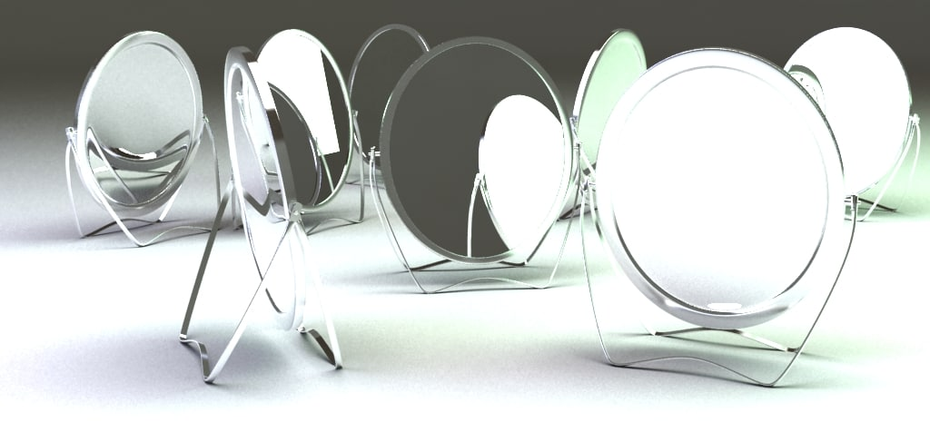 3d table mirror
