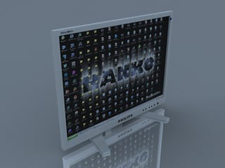 3d philips brilliance monitor model
