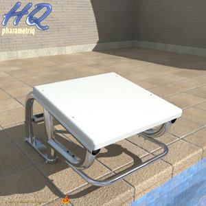 3d model pool starting block 06