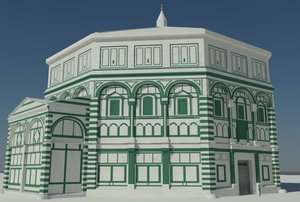 battistero florence baptistry 3d model