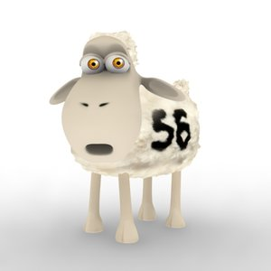 sheep 8 morph targets 3d model