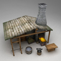 3d model medieval blacksmith