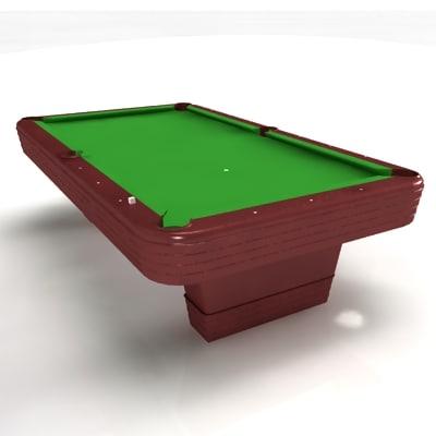 3d snooker table pool billiards model