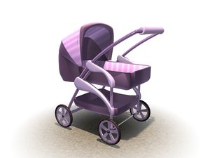 3d baby stroller model