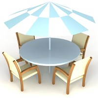 3ds max table chair set furniture garden