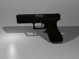 3d glock 17 pistol model