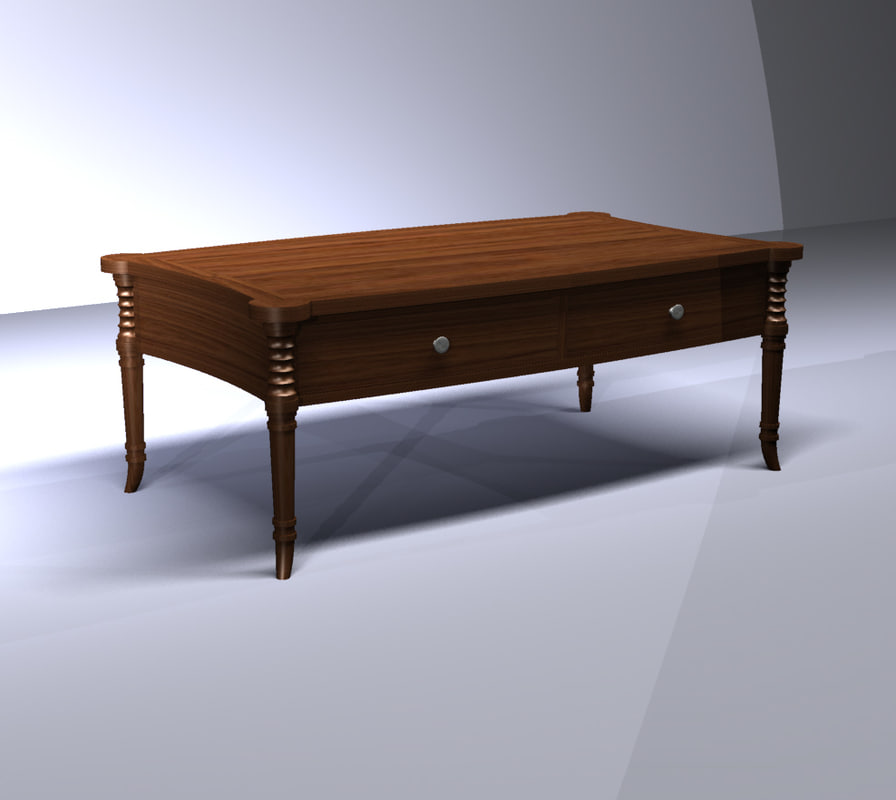 3d model transitional cocktail table