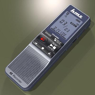 digital voice recorder 3d model