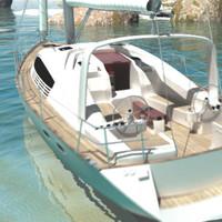sailing yacht 3d fbx