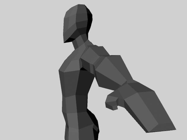 base mesh character 3d obj