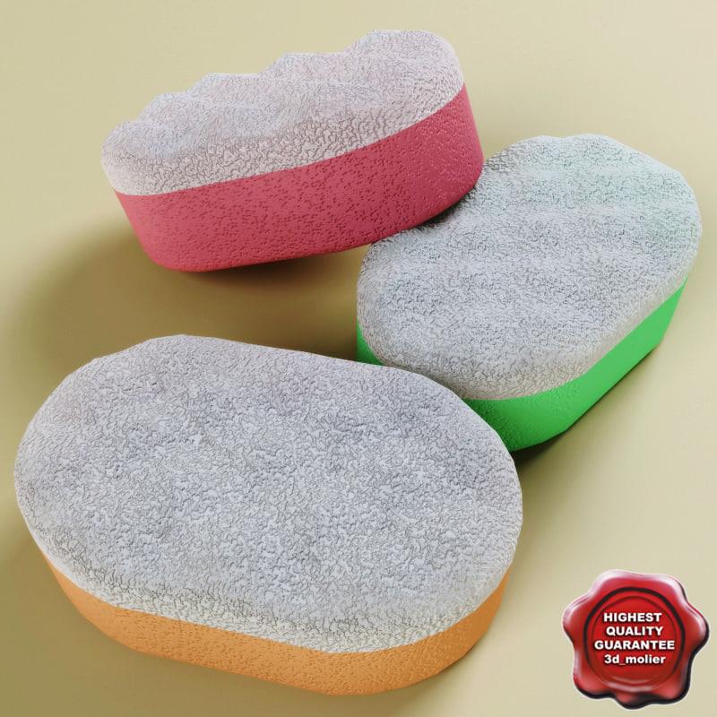 bath sponge 3d model