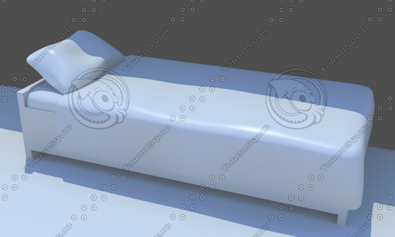 3d model single bed