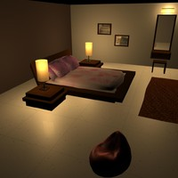 3d bedroom set model