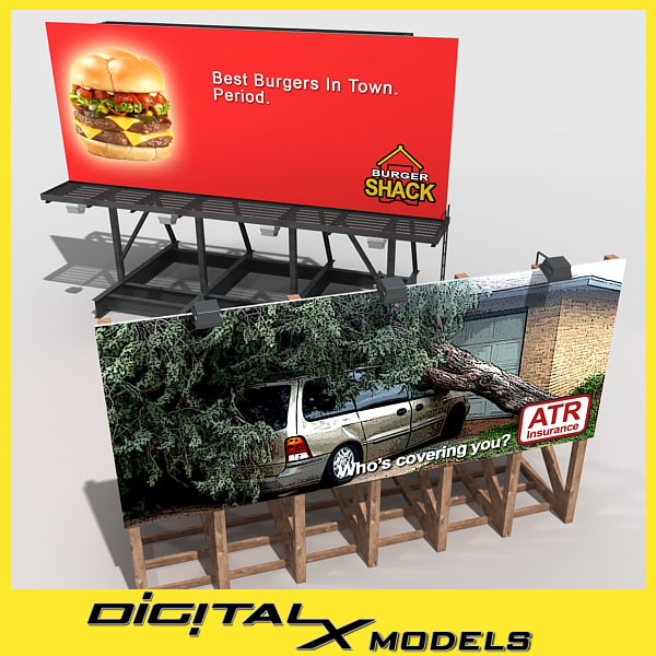 3d model billboards