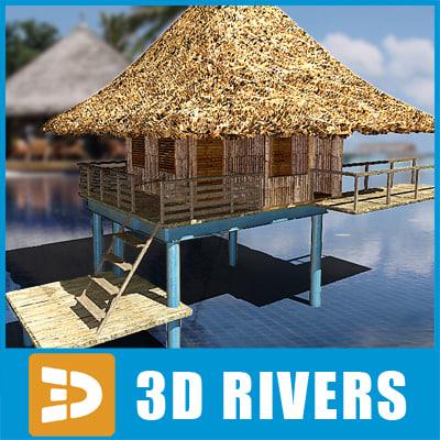 3dsmax bungalow island items