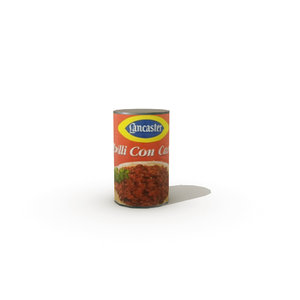 tinned chili-con-carne 3d obj