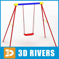 3d playground swing model