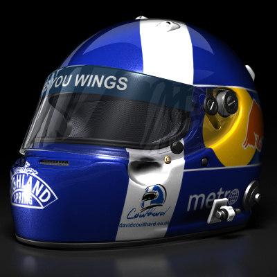 3d david coulthard helmet 2008 model