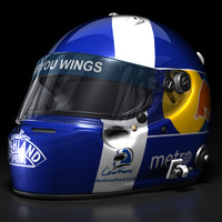3d david coulthard helmet 2008 model
