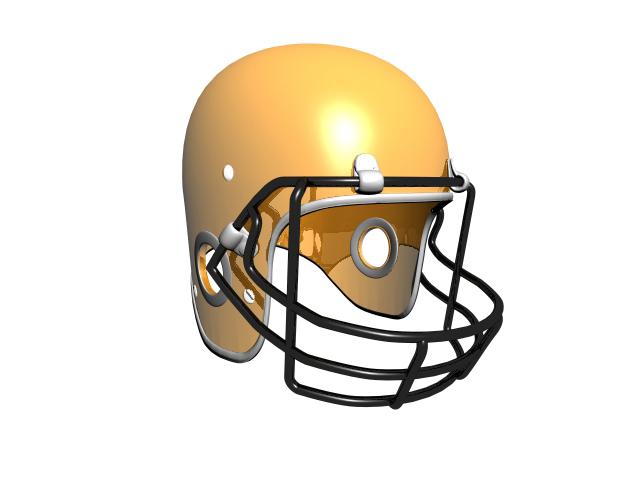 3d football helmet